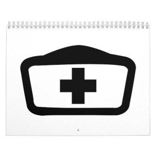 Gorra de la enfermera calendario de pared