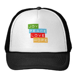 Gorra de la esperanza del amor de la paz de la ale