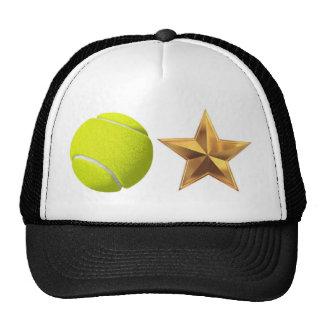 Gorra de la estrella de tenis bola