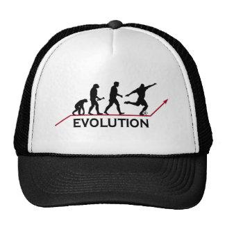 Gorra de la evolución del fútbol