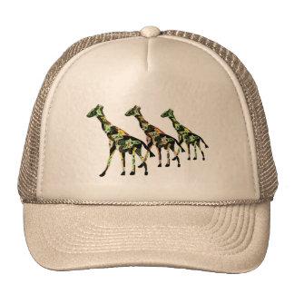 Gorra de la excursión de la familia de la jirafa