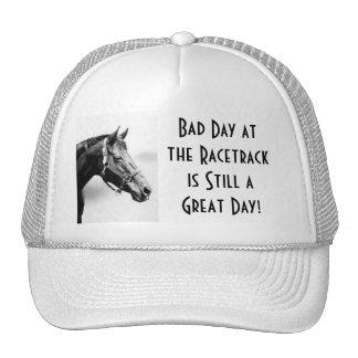 Gorra de la fan de carrera de caballos