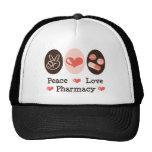 Gorra de la farmacia del amor de la paz