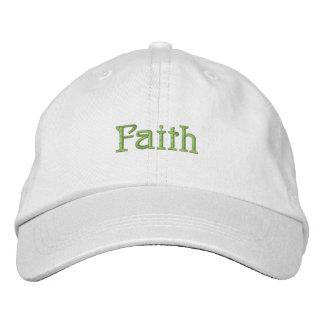 Gorra de la fe gorra de beisbol bordada
