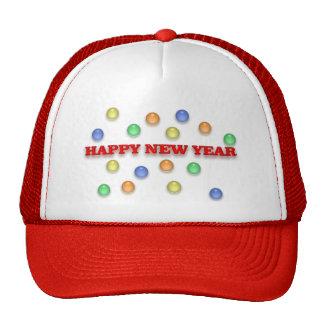 Gorra de la Feliz Año Nuevo y del confeti
