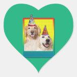Gorra de la fiesta de cumpleaños - corona de Tebow Pegatina De Corazón