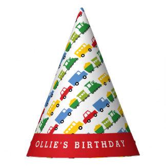 Gorra de la fiesta de cumpleaños del transporte gorro de fiesta