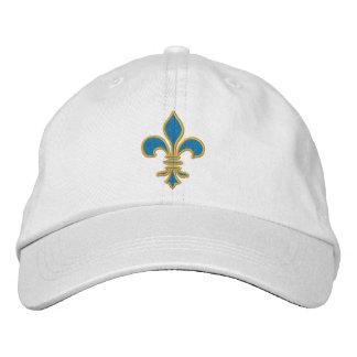 Gorra de la flor de lis del azul y del oro gorra de béisbol
