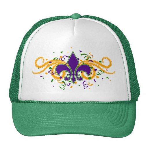 Gorra de la flor de lis del carnaval