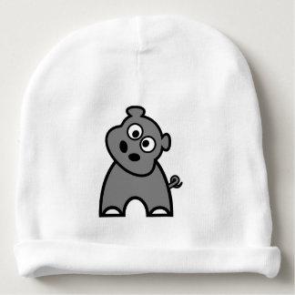 Gorra de la gorrita tejida del bebé del hipopótamo gorrito para bebe