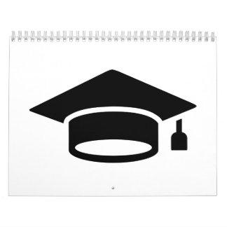 Gorra de la graduación calendarios de pared