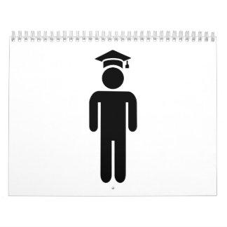 Gorra de la graduación del estudiante calendarios
