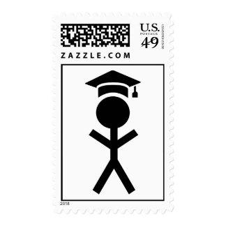 Gorra de la graduación del estudiante sello