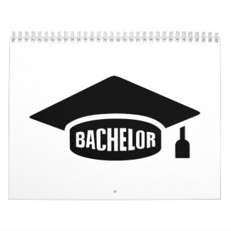 Gorra de la graduación del soltero calendario