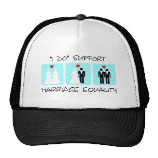 Gorra de la igualdad de la boda de la ayuda
