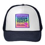Gorra de la igualdad de la justicia de la libertad