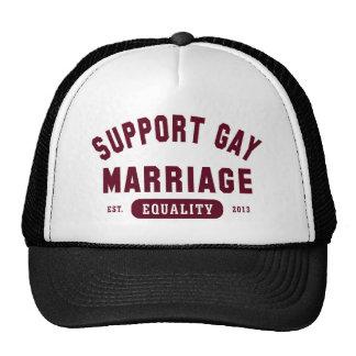 Gorra de la igualdad del matrimonio homosexual de