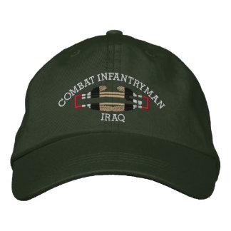 Gorra de la insignia del soldado de infantería del gorra de beisbol bordada