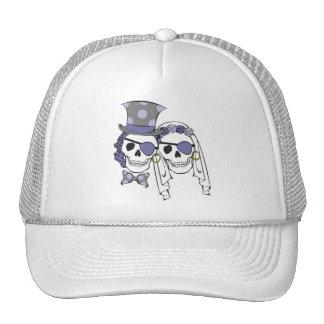 Gorra de la lavanda de los cráneos del pirata del
