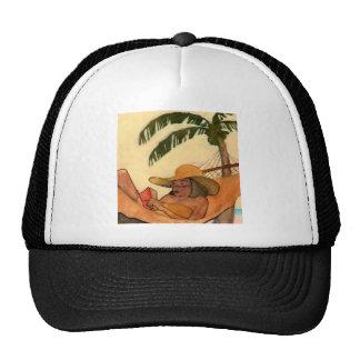 Gorra de la lectura de la playa