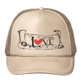 Gorra de la letra de amor del el día de San Valent