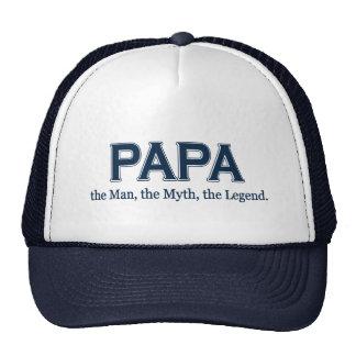 Gorra de la leyenda del mito del hombre de la papá
