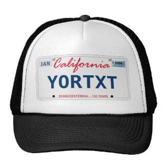 Gorra de la licencia de CA