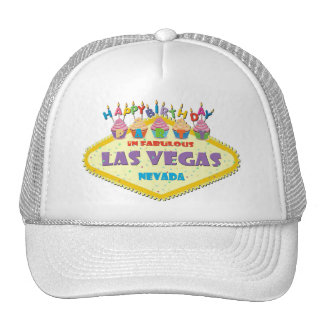 Gorra de la magdalena de Las Vegas del fiesta del