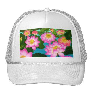 Gorra de la malla de las flores de Lotus