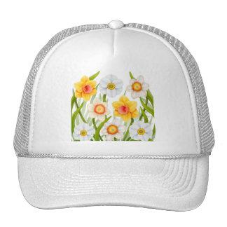 Gorra de la malla de los narcisos de la primavera