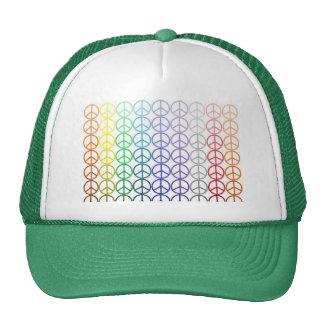 Gorra de la malla de los signos de la paz del arco