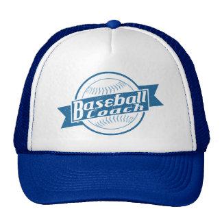 Gorra de la malla del entrenador de béisbol
