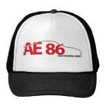 Gorra de la malla del esquema AE86