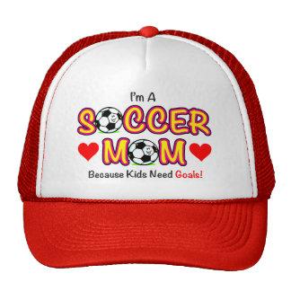 """""""Gorra de la mamá del fútbol de las metas de la ne Gorros"""