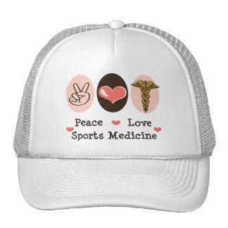Gorra de la medicina de deportes del amor de la pa