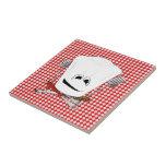 Gorra de la mesa de picnic w/Chef con las herramie Azulejos Cerámicos