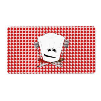 Gorra de la mesa de picnic w/Chef con las herramie Etiqueta De Envío