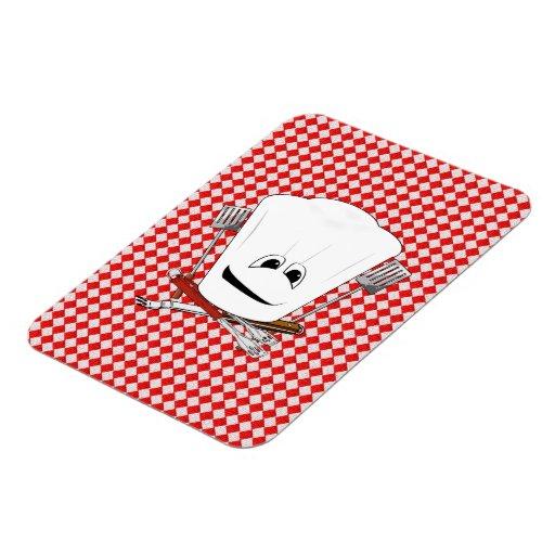 Gorra de la mesa de picnic w/Chef con las herramie Iman
