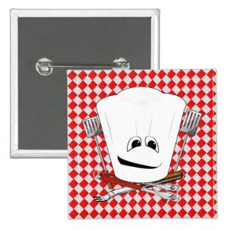 Gorra de la mesa de picnic w/Chef con las herramie Pins