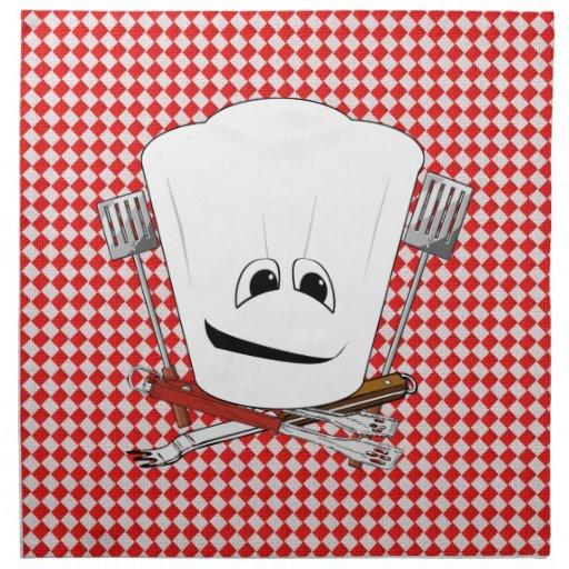 Gorra de la mesa de picnic w/Chef con las herramie Servilletas