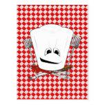 Gorra de la mesa de picnic w/Chef con las Postal