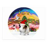 Gorra de la música 2 de Navidad - conejillo de Postal