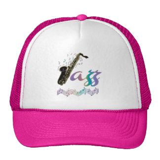 Gorra de la música del saxofón del jazz del arco