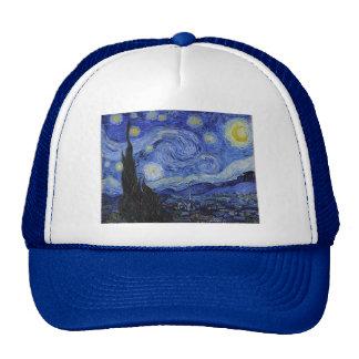 "Gorra de la ""noche estrellada"" de Vincent van Gogh"