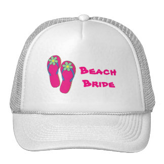Gorra de la novia de la playa:  Diseño del flip-fl