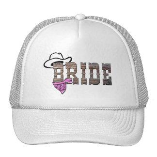 Gorra de la novia de la vaquera