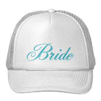 Gorra de la novia en azul