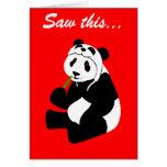 Gorra de la panda (cumpleaños) felicitacion