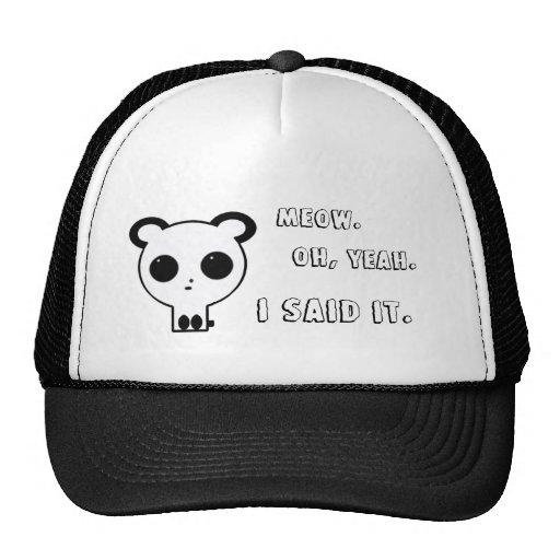 Gorra de la panda del MAULLIDO