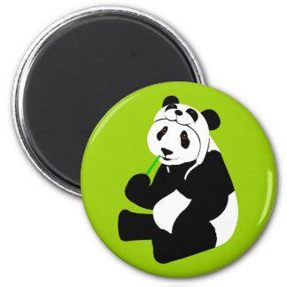 Gorra de la panda iman de frigorífico